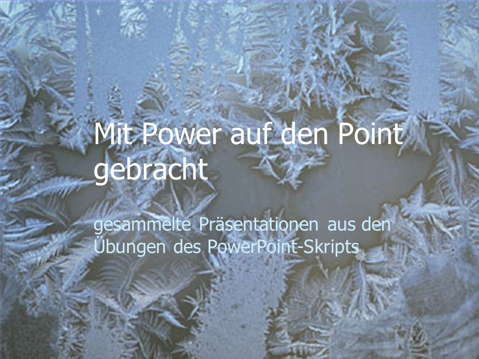 Mit Power auf den Point gebracht