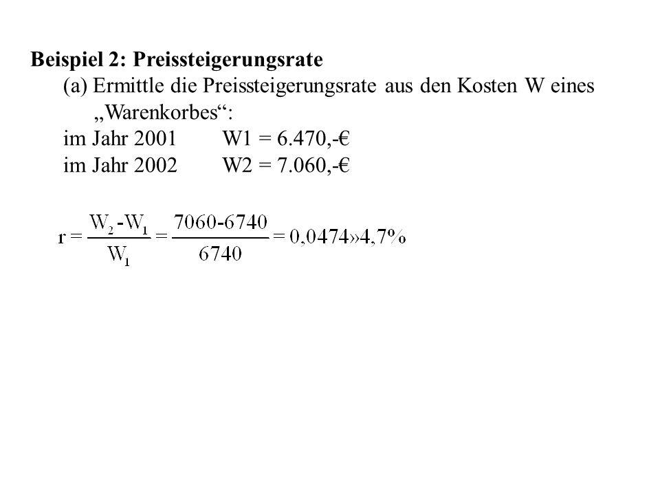 Beispiel 2: Preissteigerungsrate