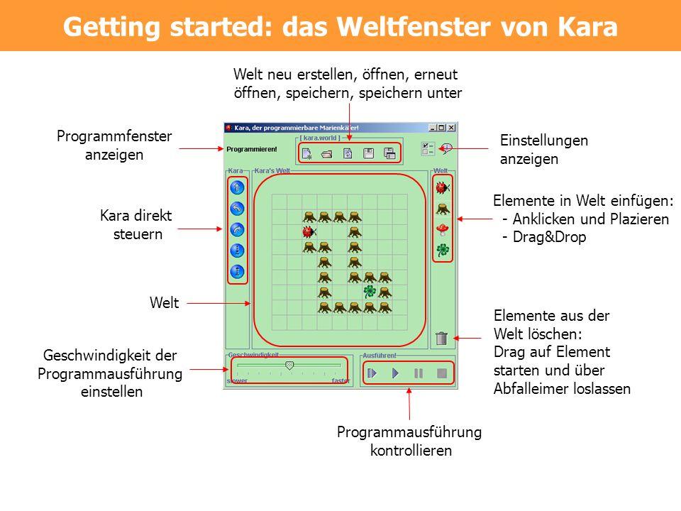 Getting started: das Weltfenster von Kara