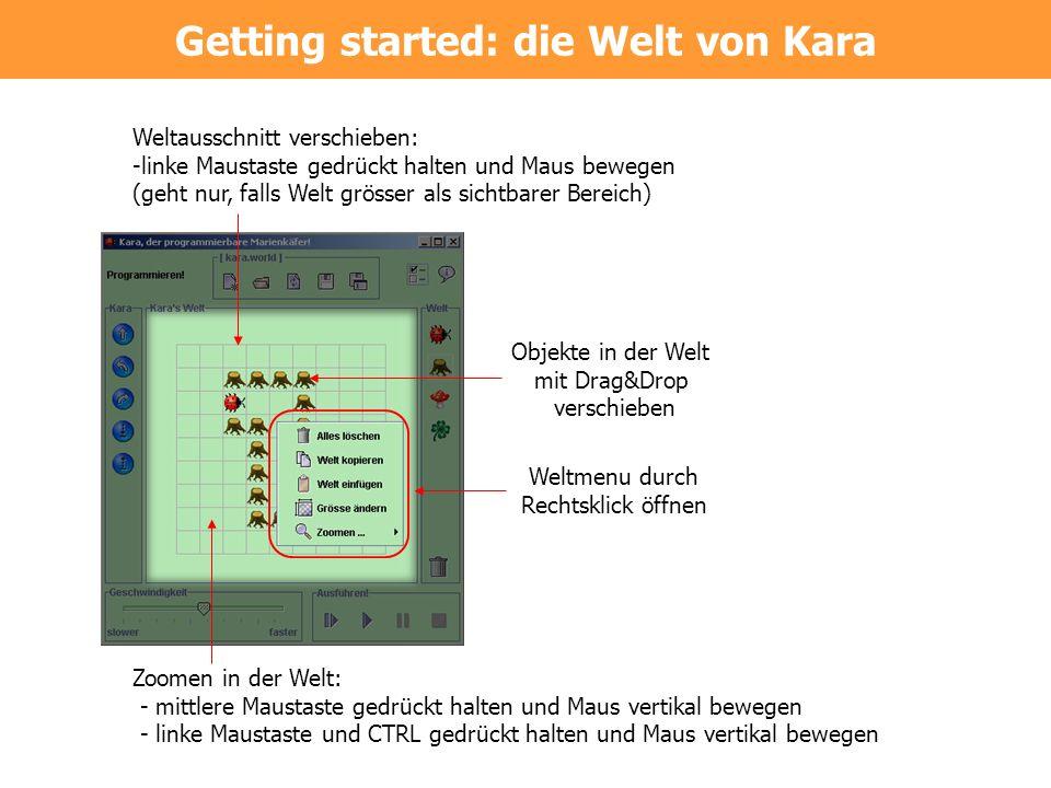 Getting started: die Welt von Kara
