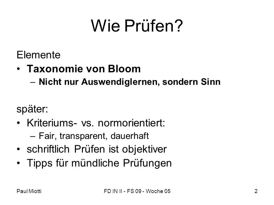 Wie Prüfen Elemente Taxonomie von Bloom später: