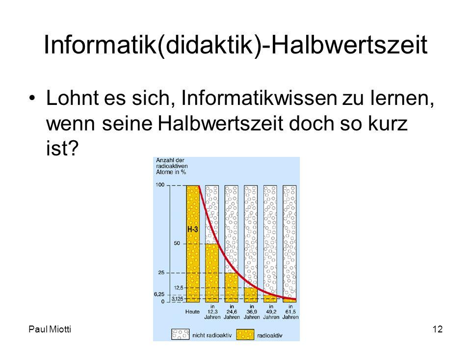 Informatik(didaktik)-Halbwertszeit