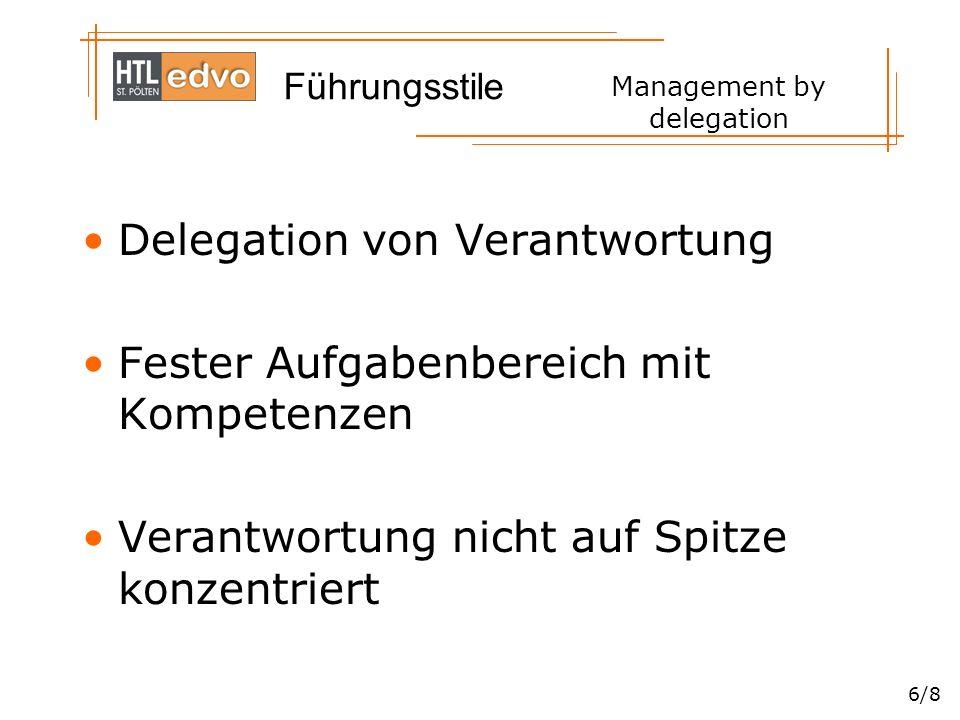 Management by delegation