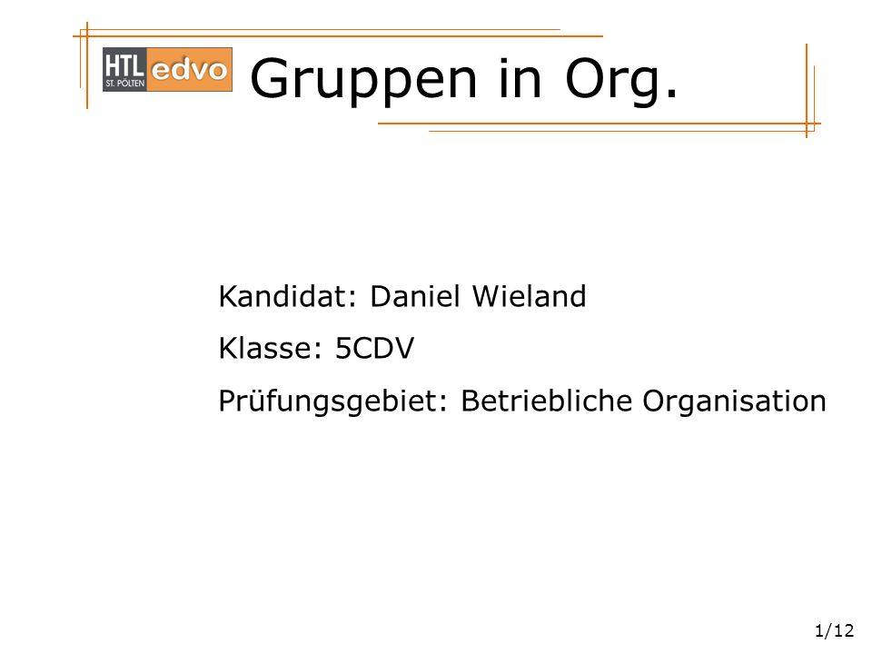 Kandidat: Daniel Wieland
