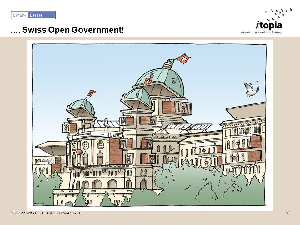 .... Swiss Open Government! OGD Schweiz - OGD DACHLI Wien - 4.10.2012