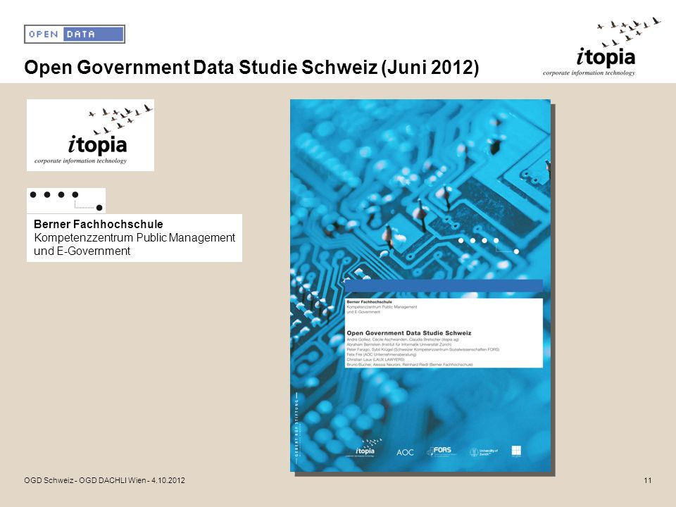 Open Government Data Studie Schweiz (Juni 2012)