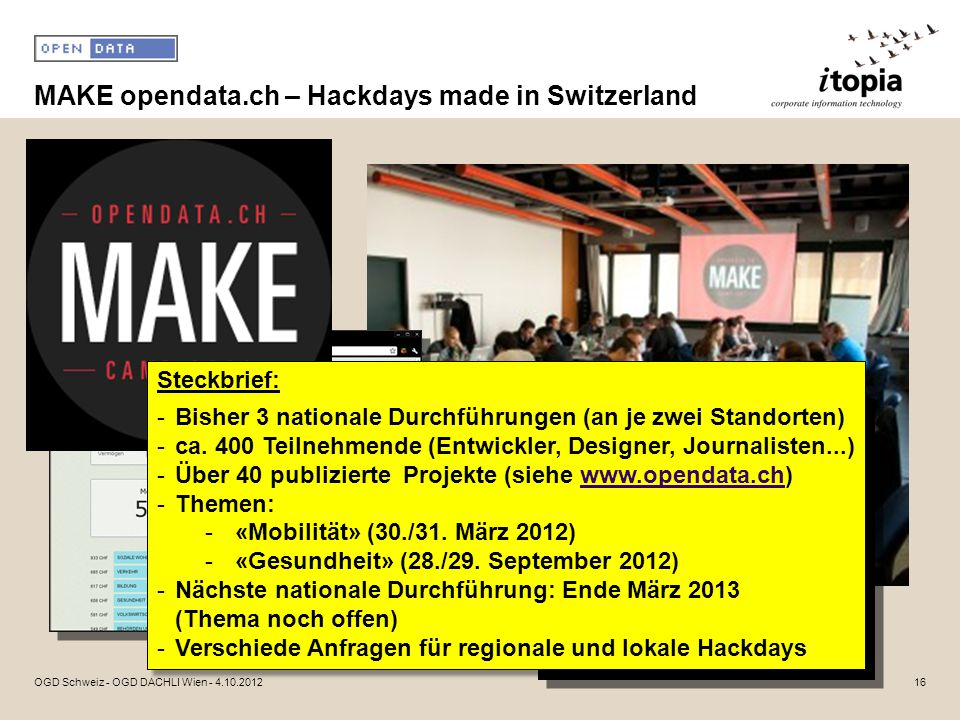 MAKE opendata.ch – Hackdays made in Switzerland