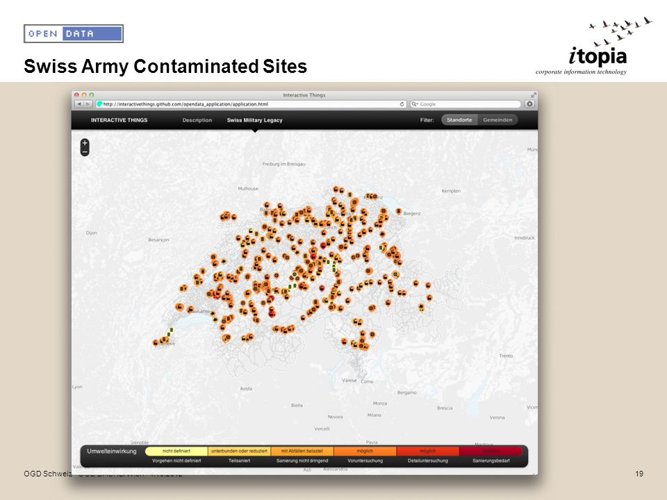 Swiss Army Contaminated Sites