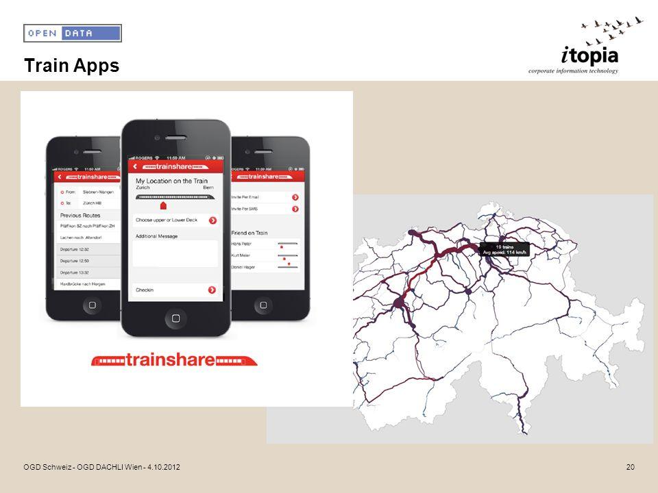 Train Apps OGD Schweiz - OGD DACHLI Wien - 4.10.2012
