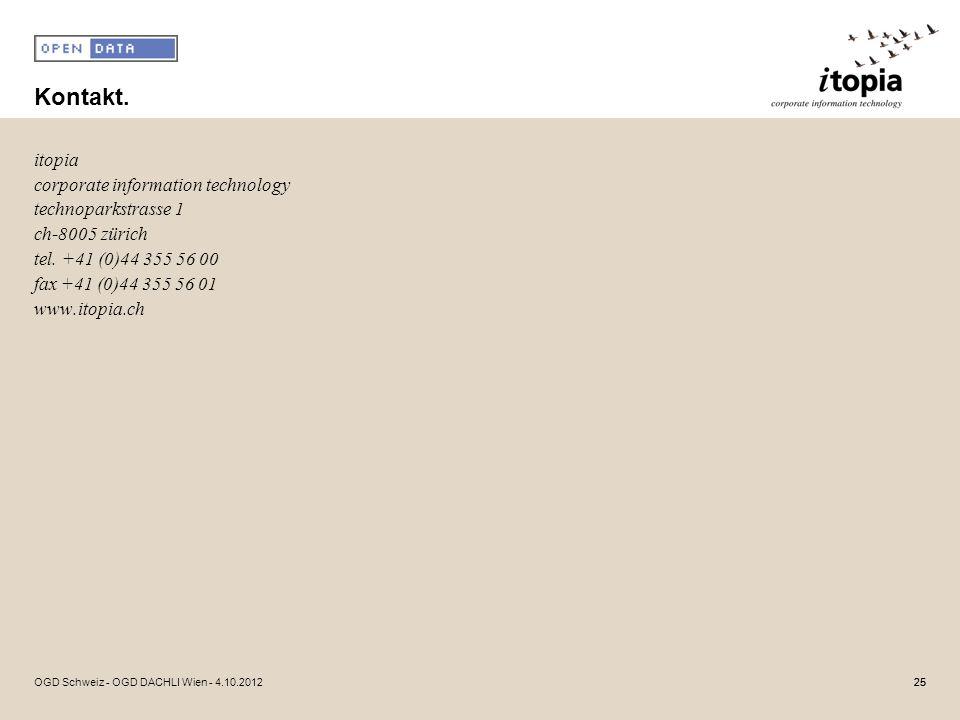 Kontakt. itopia corporate information technology technoparkstrasse 1 ch-8005 zürich tel. +41 (0)44 355 56 00 fax +41 (0)44 355 56 01 www.itopia.ch
