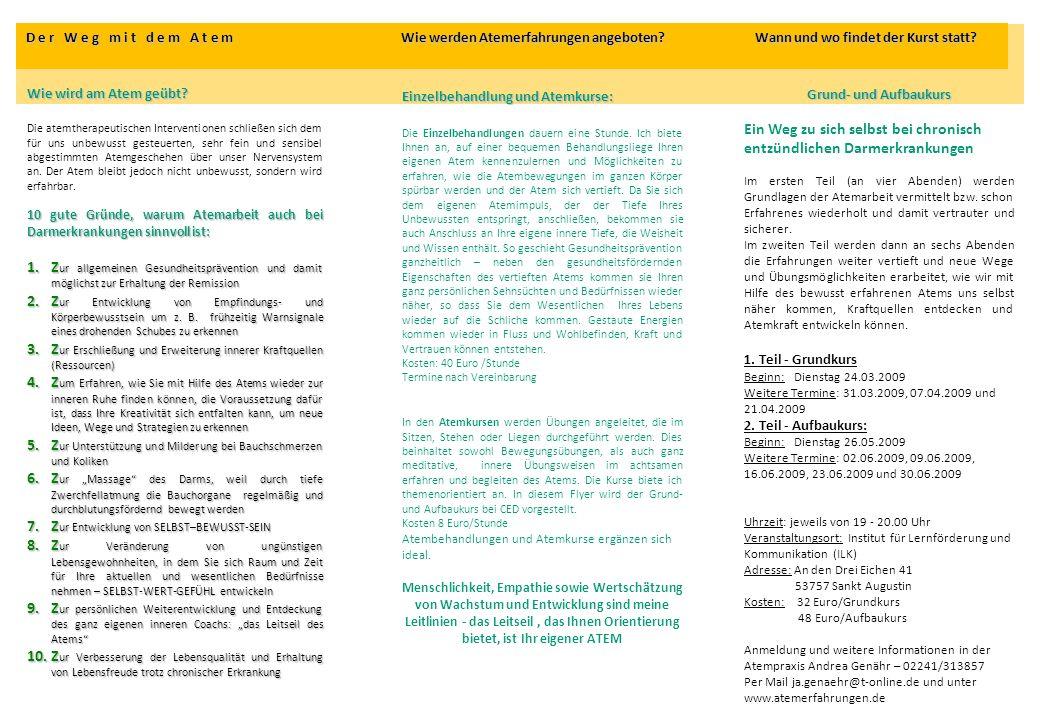 Zur Erschließung und Erweiterung innerer Kraftquellen (Ressourcen)
