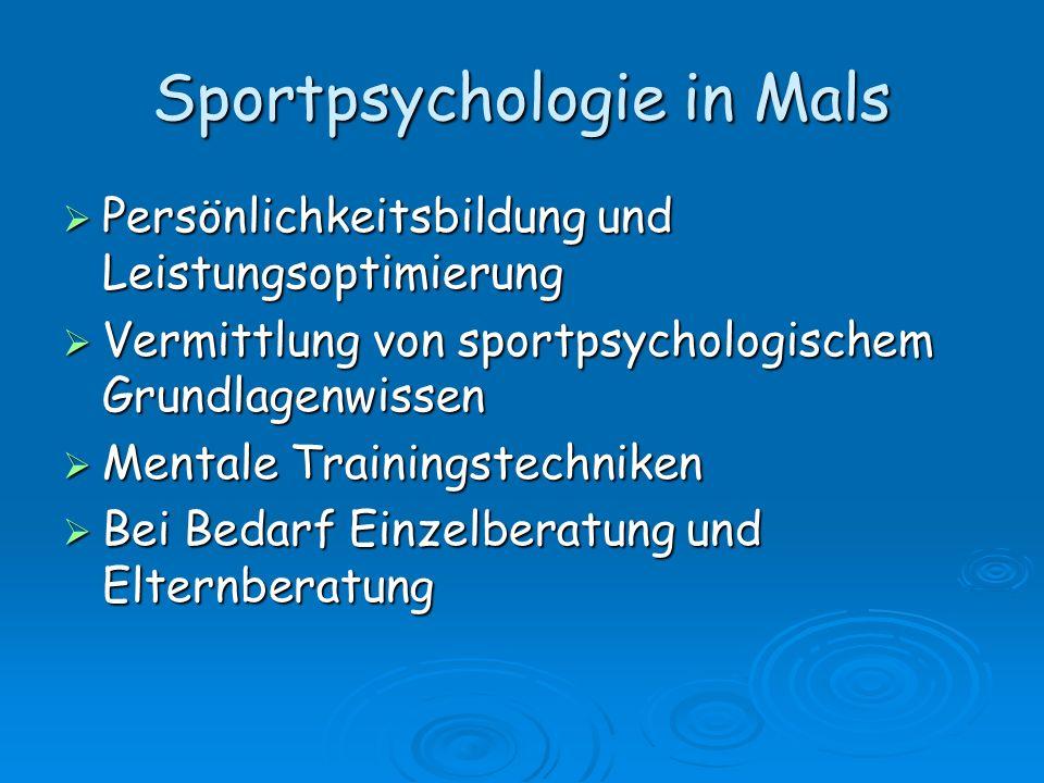 Sportpsychologie in Mals