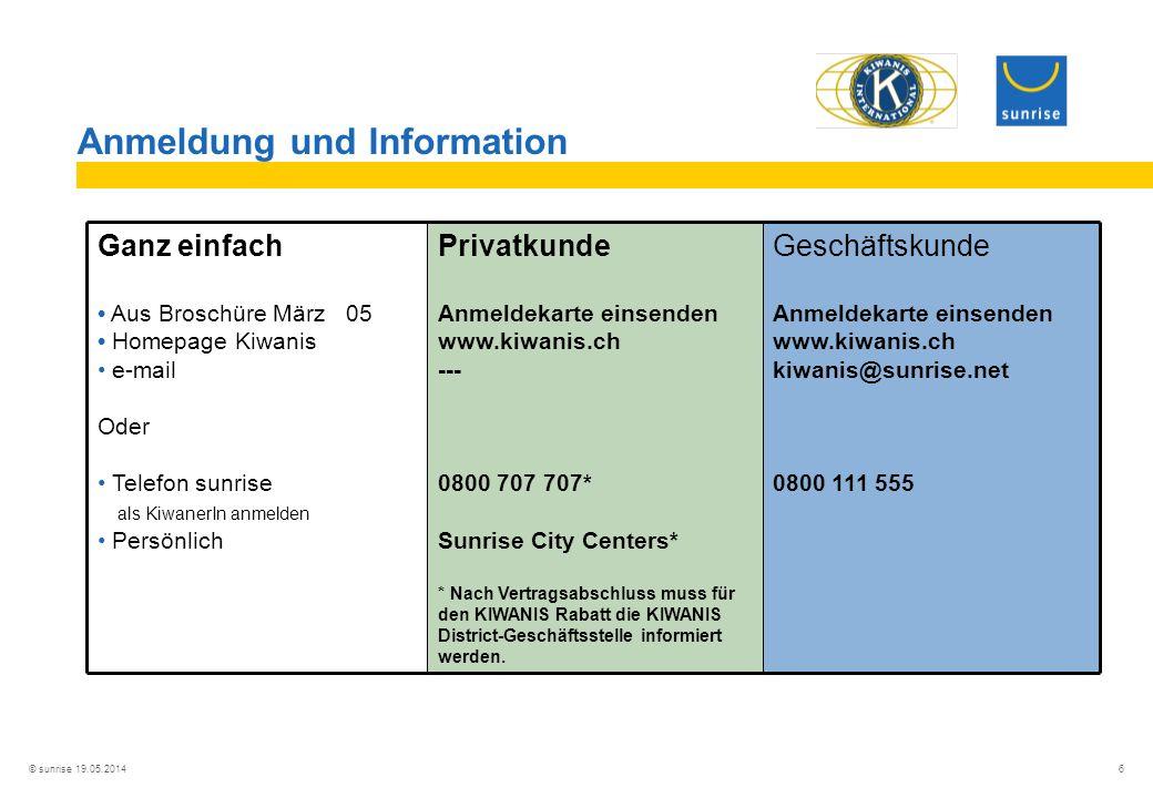 Anmeldung und Information