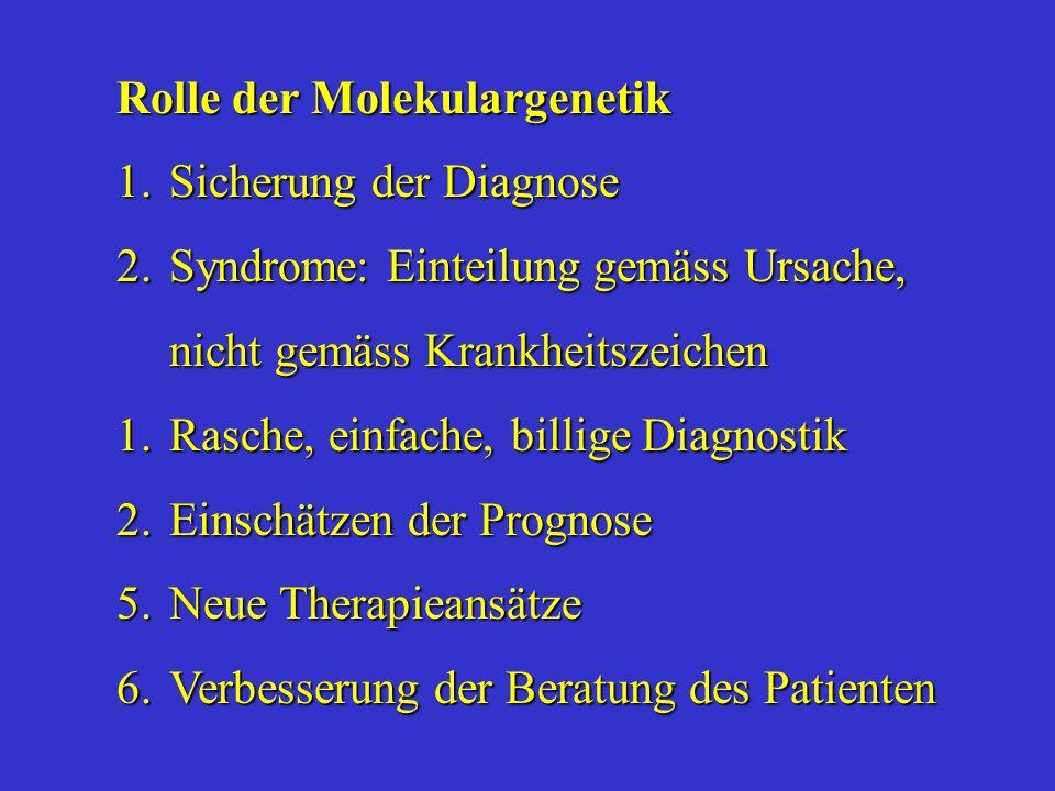 Rolle der Molekulargenetik