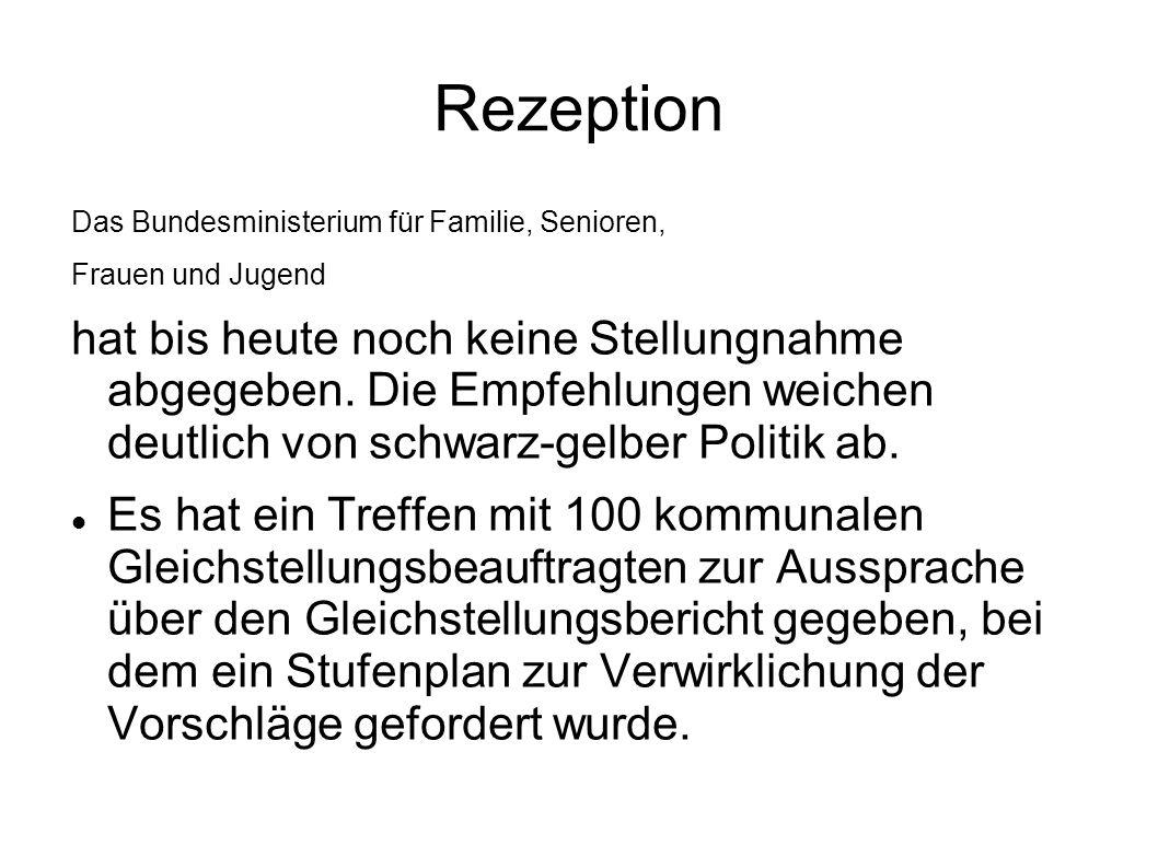 Rezeption Das Bundesministerium für Familie, Senioren, Frauen und Jugend.