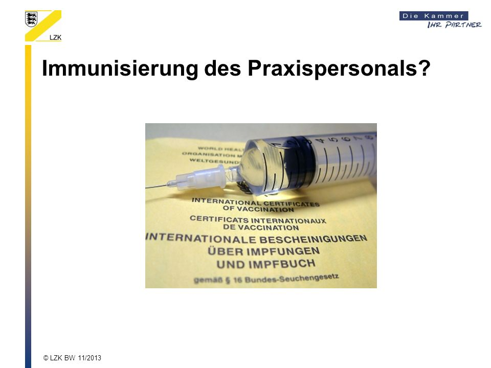 Immunisierung des Praxispersonals