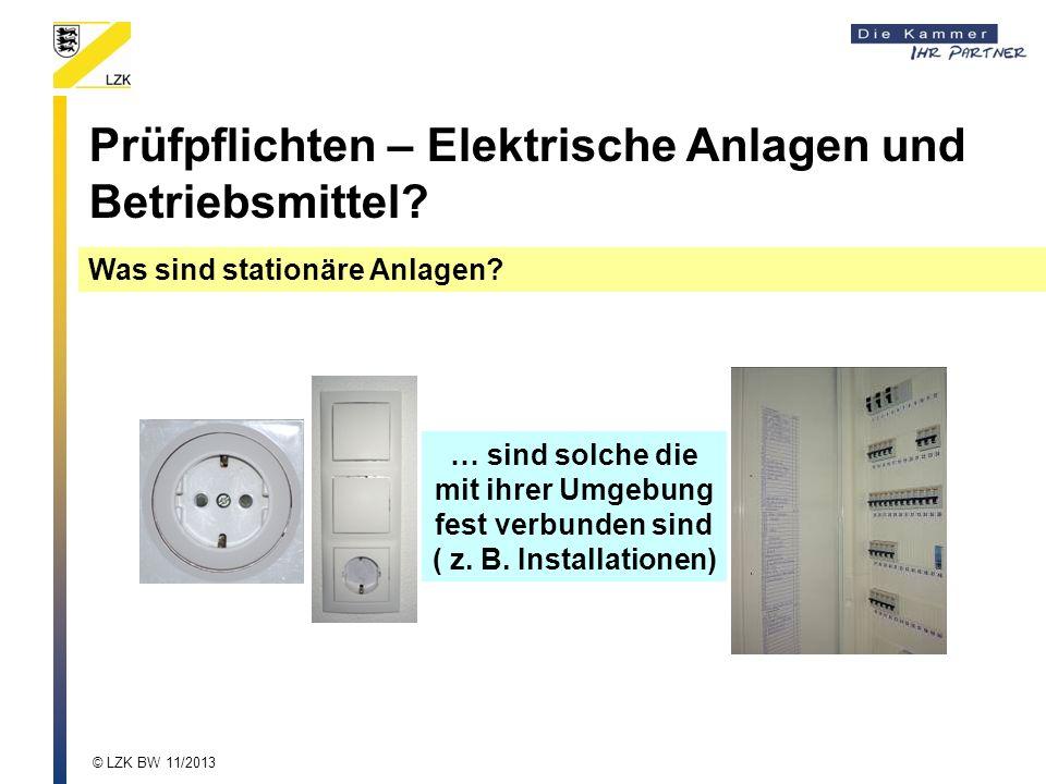 Prüfpflichten – Elektrische Anlagen und Betriebsmittel