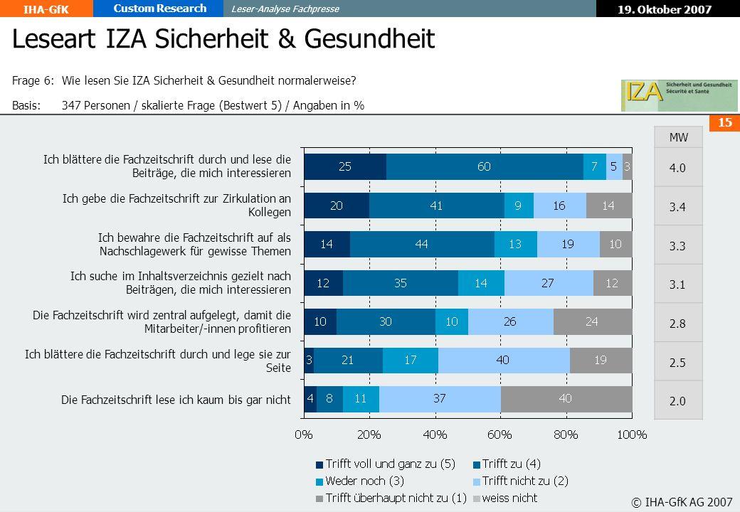 Leseart IZA Sicherheit & Gesundheit