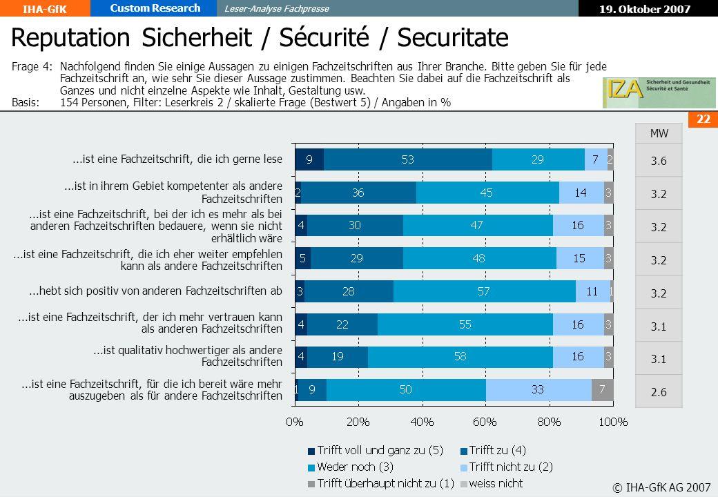 Reputation Sicherheit / Sécurité / Securitate