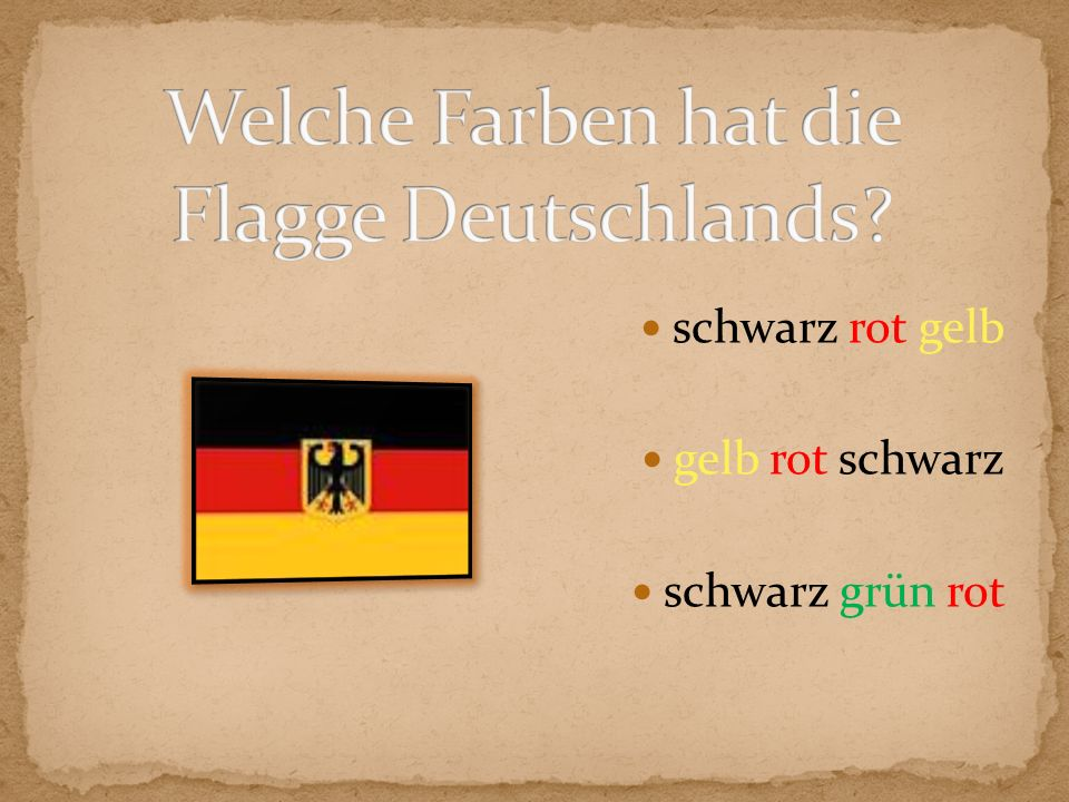 Welche Farben hat die Flagge Deutschlands