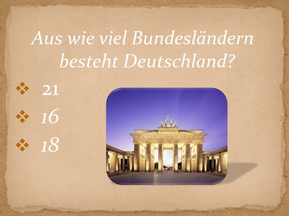 Aus wie viel Bundesländern besteht Deutschland