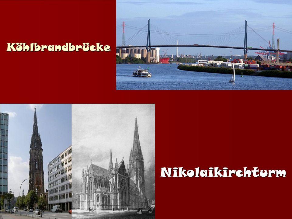 Köhlbrandbrücke Nikolaikirchturm