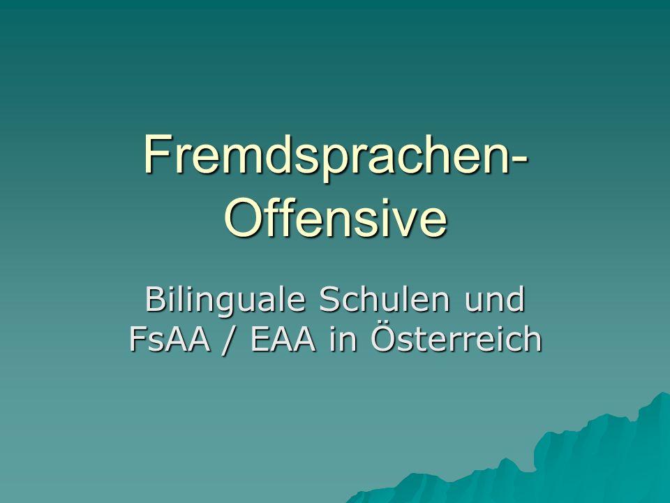 Fremdsprachen-Offensive