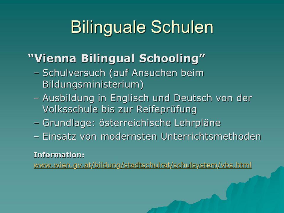 Bilinguale Schulen Vienna Bilingual Schooling