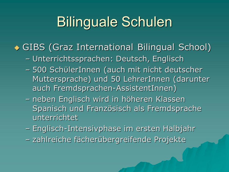 Bilinguale Schulen GIBS (Graz International Bilingual School)
