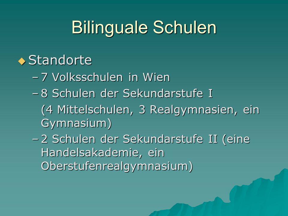 Bilinguale Schulen Standorte 7 Volksschulen in Wien
