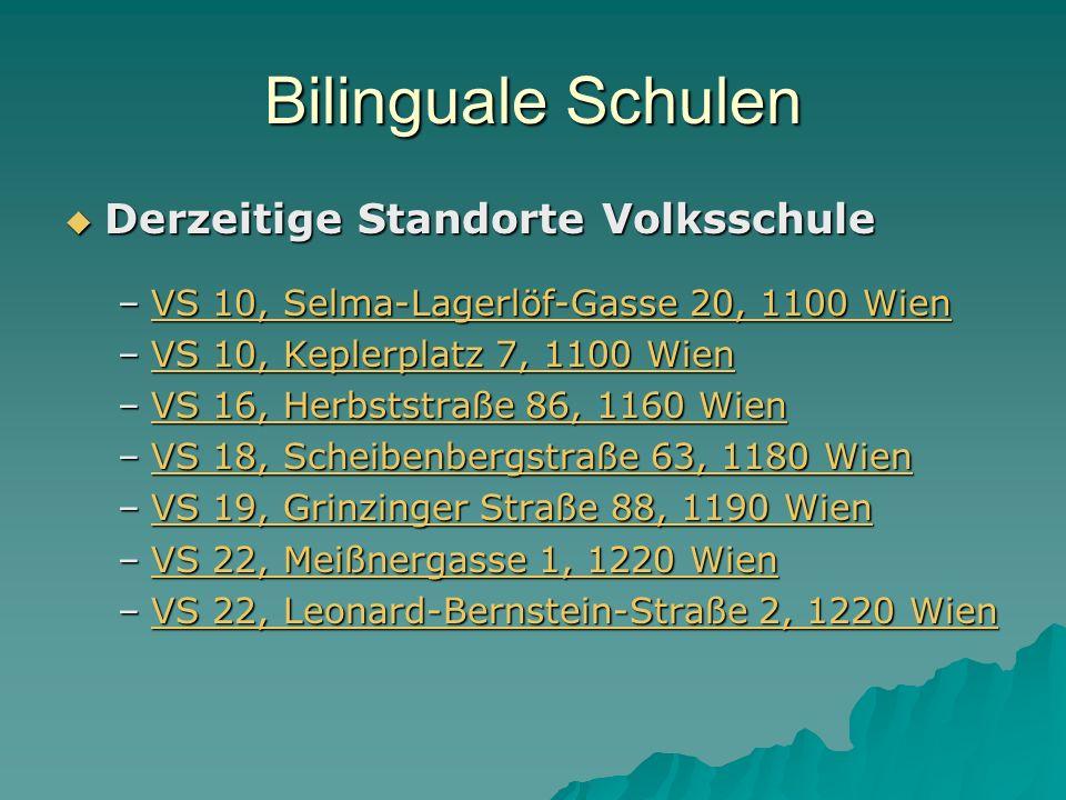 Bilinguale Schulen Derzeitige Standorte Volksschule