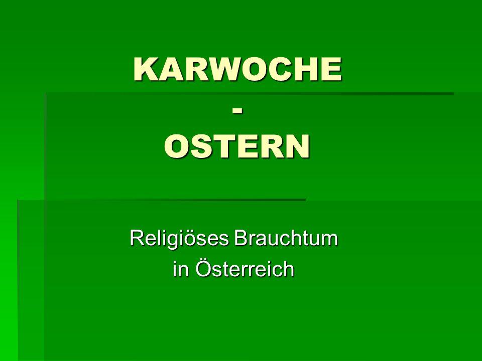Religiöses Brauchtum in Österreich