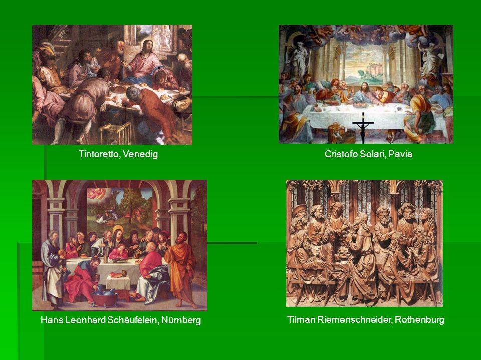 Tintoretto, Venedig Cristofo Solari, Pavia. Hans Leonhard Schäufelein, Nürnberg.