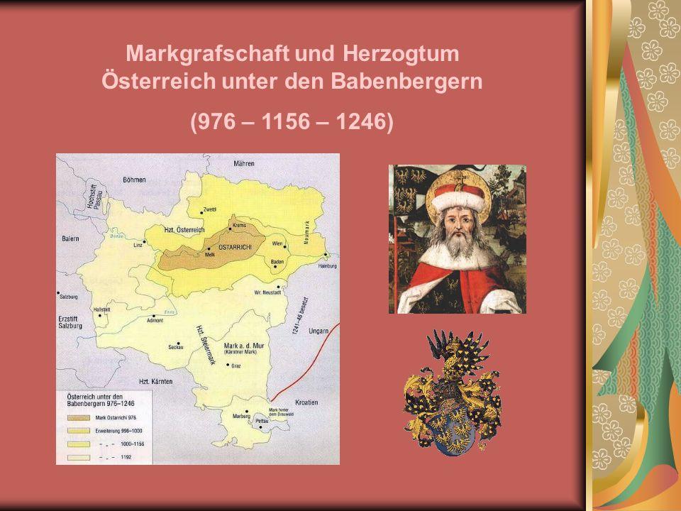 Markgrafschaft und Herzogtum Österreich unter den Babenbergern