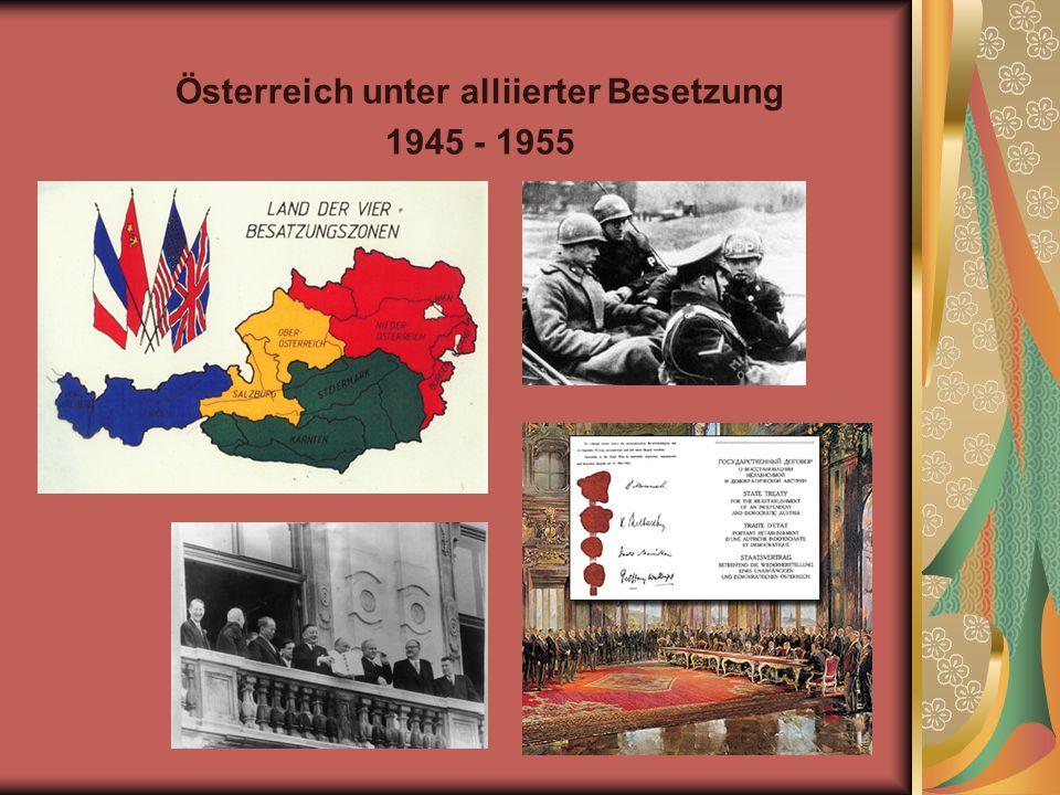 Österreich unter alliierter Besetzung