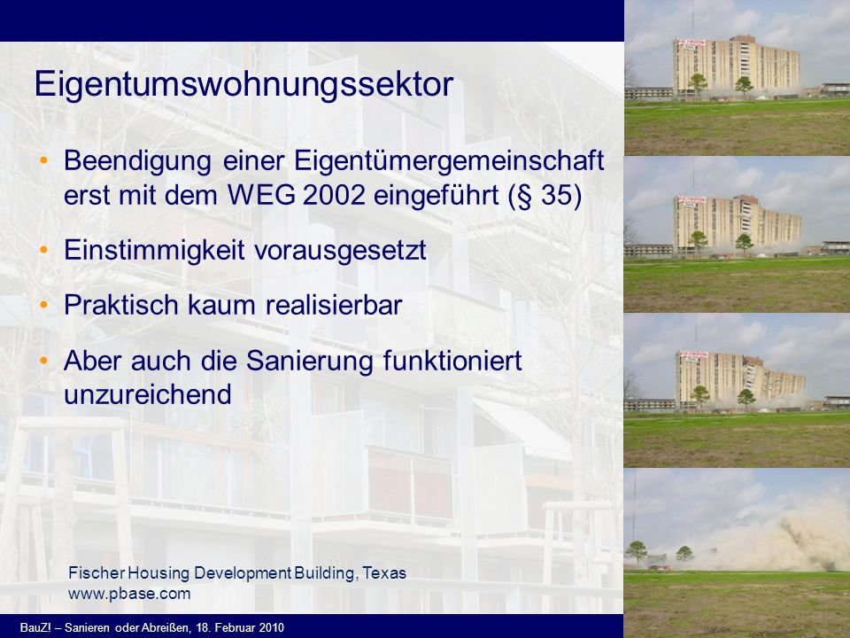 Eigentumswohnungssektor