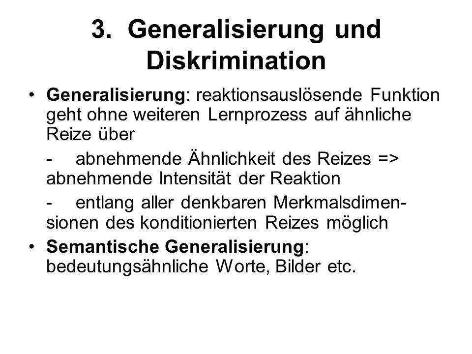 3. Generalisierung und Diskrimination