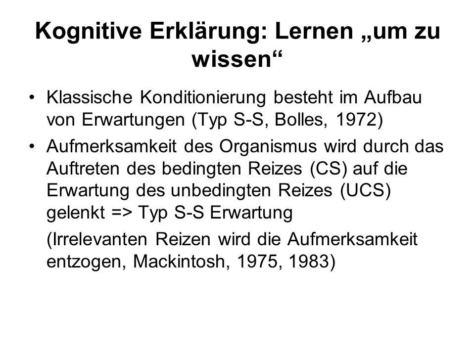 """Kognitive Erklärung: Lernen """"um zu wissen"""