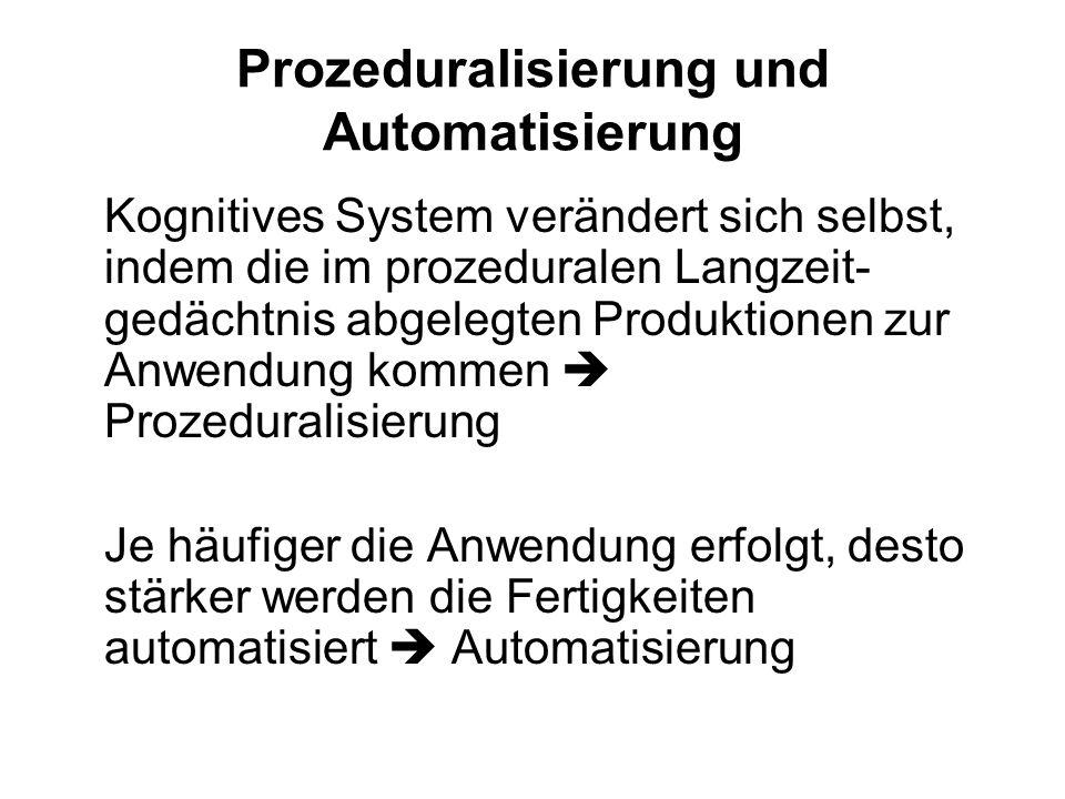 Prozeduralisierung und Automatisierung