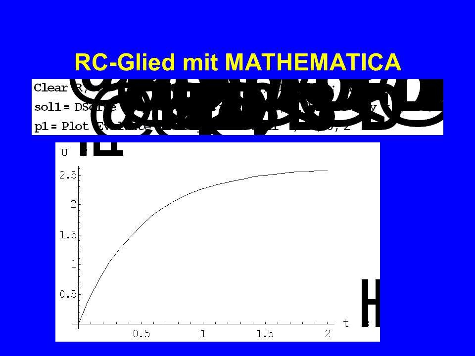 RC-Glied mit MATHEMATICA