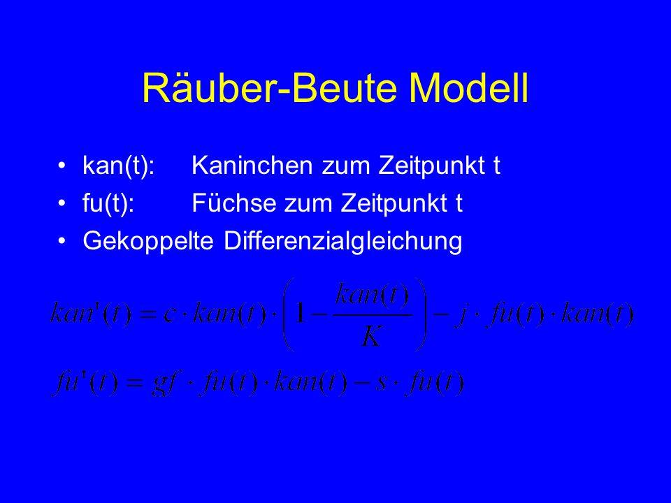 Räuber-Beute Modell kan(t): Kaninchen zum Zeitpunkt t