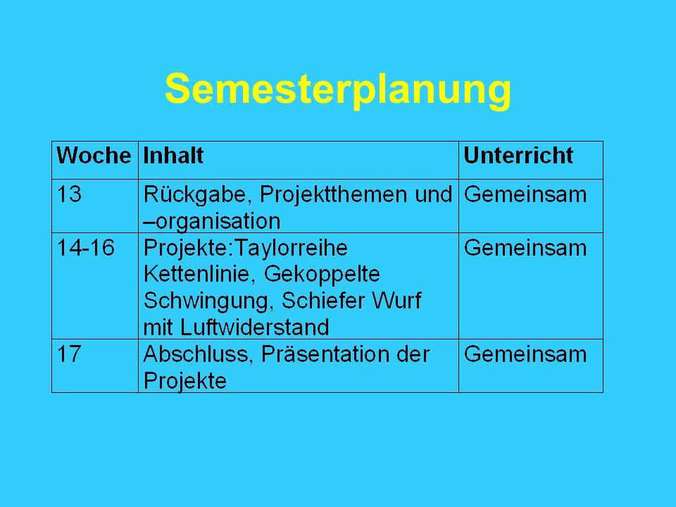 Semesterplanung