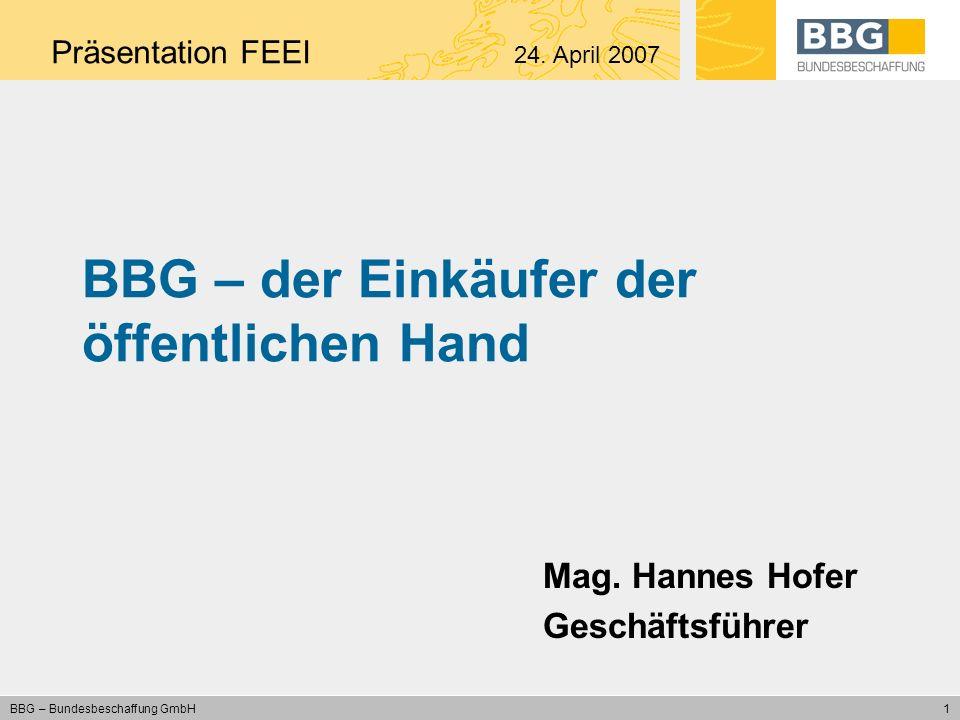 BBG – der Einkäufer der öffentlichen Hand