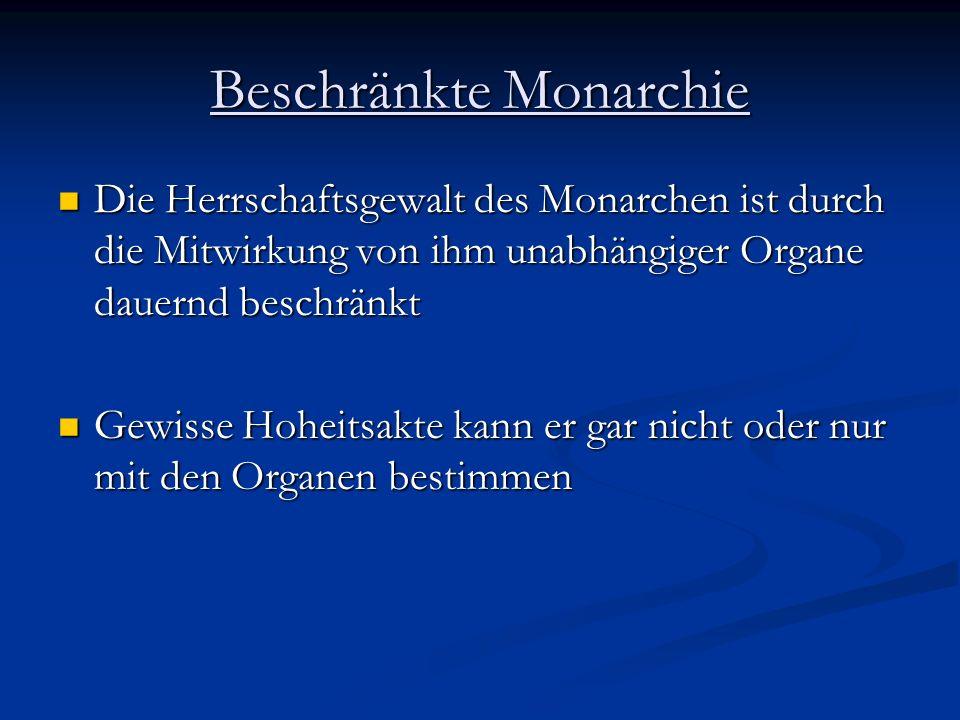 Beschränkte Monarchie