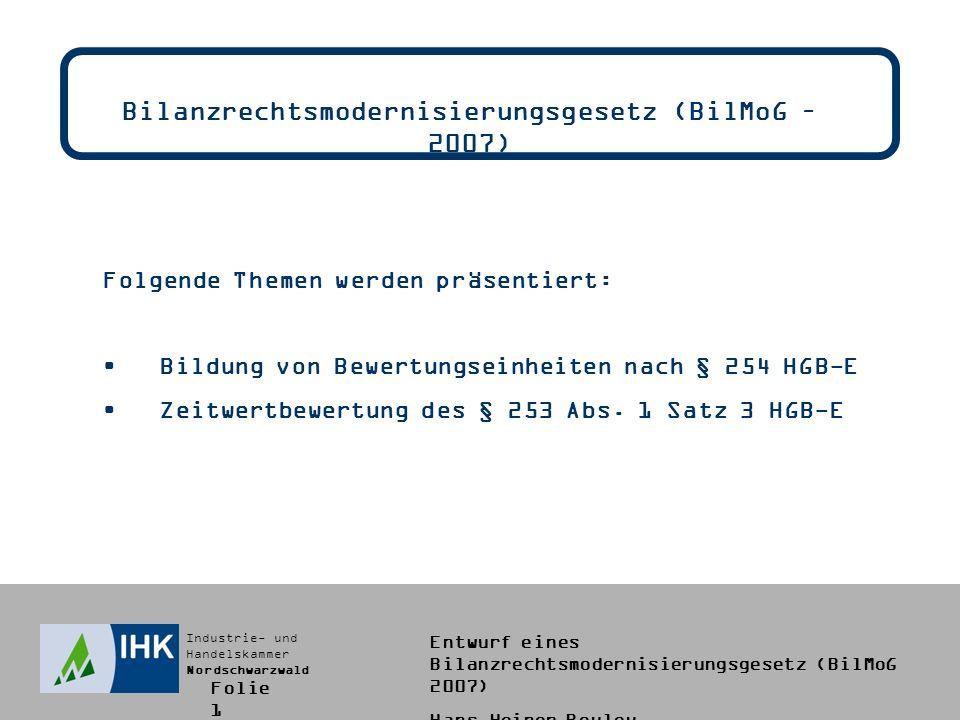 Bilanzrechtsmodernisierungsgesetz (BilMoG – 2007)
