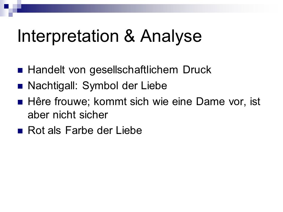Interpretation & Analyse