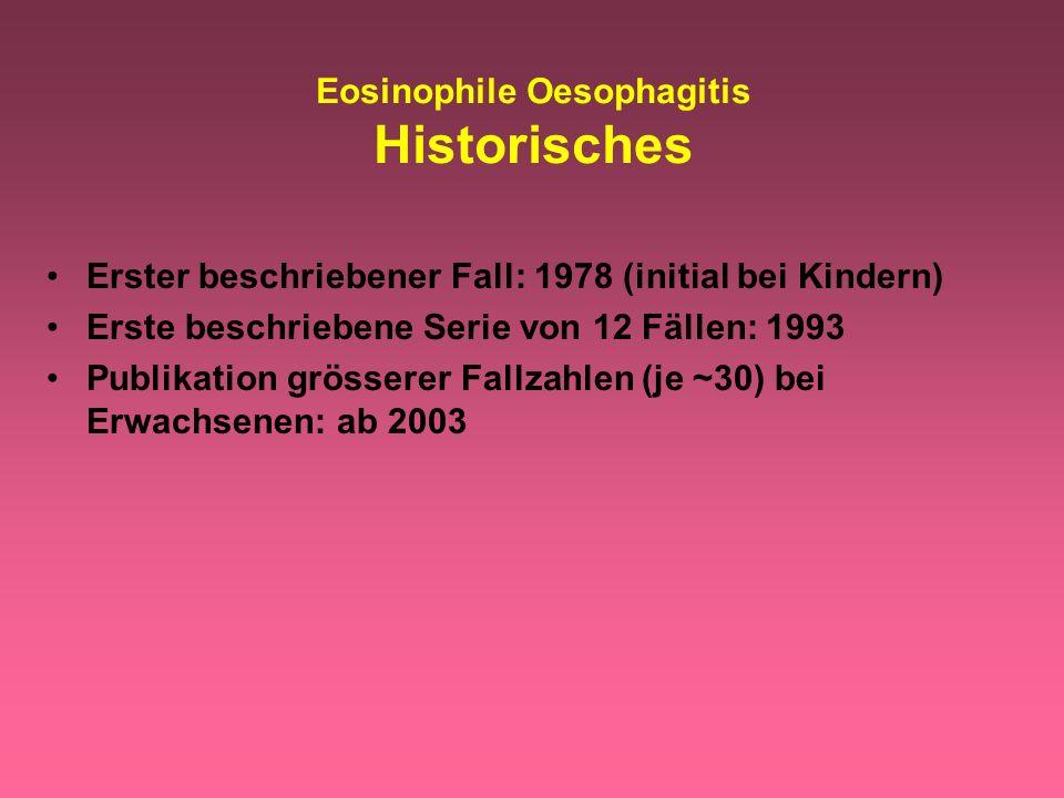 Eosinophile Oesophagitis Historisches