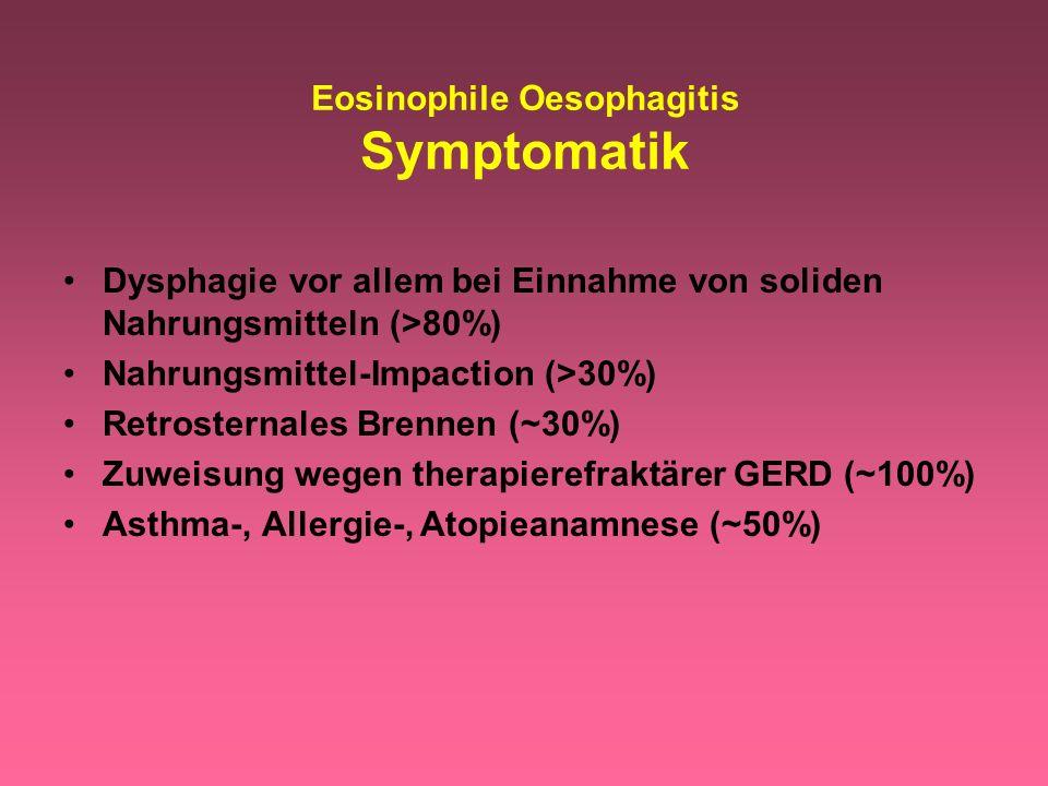Eosinophile Oesophagitis Symptomatik