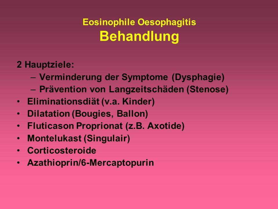 Eosinophile Oesophagitis Behandlung