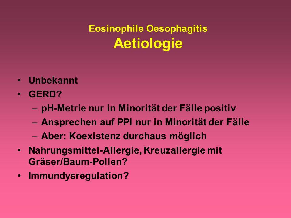 Eosinophile Oesophagitis Aetiologie